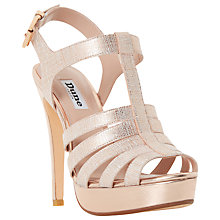 Buy Dune Marbaya Stiletto Platform Sandals, Rose Gold Online at johnlewis.com