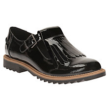 Buy Clarks Griffin Mia Tassel Loafers, Black Patent Leather Online at johnlewis.com