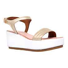 Buy Carvela Kylie Flatform Sandals, Gold Online at johnlewis.com