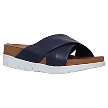 Buy Carvela Kasper Wedge Slip On Sandals, Navy Online at johnlewis.com