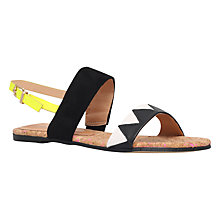 Buy Miss KG Rochanna Double Strap Sandals, Black/White Online at johnlewis.com