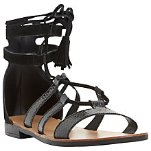 Buy Dune Lagunaa Ghillie Lace Up Sandals, Black Online at johnlewis.com