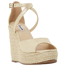 Buy Dune Krystal Wedge Heeled Platform Sandals Online at johnlewis.com