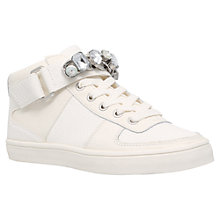 Buy Carvela Luminous Embellished Trainers, White Online at johnlewis.com