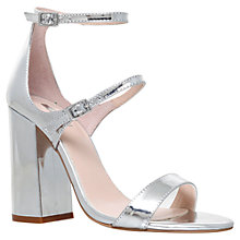 Buy Carvela Genetic Double Strap Block Heeled Sandals, Silver Online at johnlewis.com
