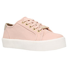 Buy Carvela Lorna Lace Up Trainers, Nude Online at johnlewis.com