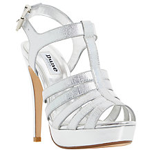 Buy Dune Marbaya Stiletto Platform Sandals, Silver Online at johnlewis.com