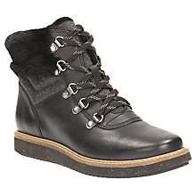 Buy Clarks Glick Clarmont Lace Up Ankle Boots, Black Online at johnlewis.com