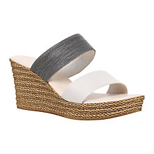 Buy Carvela Comfort Sybil Platform Sandals, Beige Comb Online at johnlewis.com