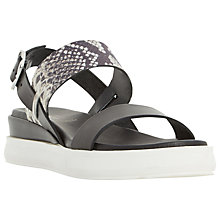 Buy Dune Black Legendd Double Strap Flatform Sandals Online at johnlewis.com