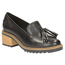 Buy Clarks Balmer Haze Block Heeled Loafers, Black Online at johnlewis.com
