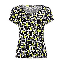 Buy Precis Petite Geo Jersey Top, Multi/Green Online at johnlewis.com