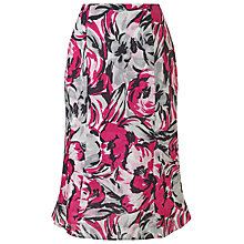 Buy Precis Petite Floral Print Linen Skirt, Pink/Multi Online at johnlewis.com
