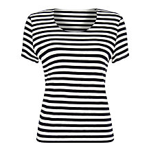 Buy Precis Petite Stripe Top, Navy/White Online at johnlewis.com