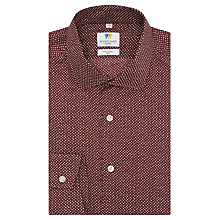 Buy Richard James Mayfair Hand Drawn Spot Shirt Red Online at johnlewis.com