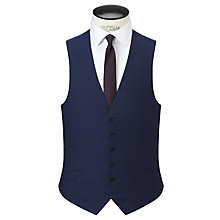 Buy Richard James Mayfair Wool Flannel Slim Fit Waistcoat, Navy Online at johnlewis.com