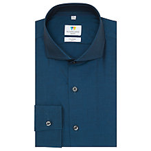 Buy Richard James Mayfair Tonic Cutaway Shirt, Teal Online at johnlewis.com