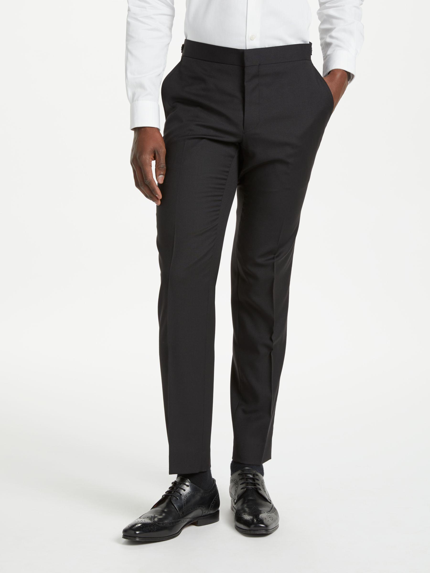 Richard James Mayfair Richard James Mayfair Hopsack Wool Dress Suit Trousers, Black