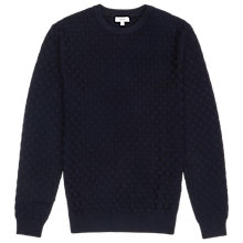 Buy Reiss Textured Jumper, Navy Online at johnlewis.com