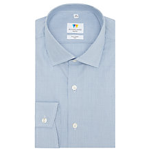 Buy Richard James Mayfair Hairline Check Shirt, Navy Online at johnlewis.com
