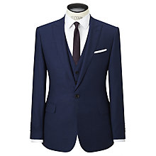 Buy Richard James Mayfair Wool Flannel Slim Fit Suit Jacket, Navy Online at johnlewis.com