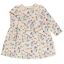Buy John LEwis Baby Bird Print Dress, Cream/Multi Online at johnlewis.com