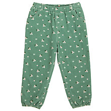 Buy John Lewis Baby Ditsy Print Corduroy Trousers, Green Online at johnlewis.com