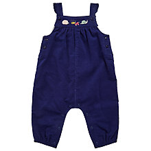 Buy John Lewis Baby Corduroy Dungaree, Navy Online at johnlewis.com