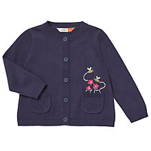 Buy John Lewis Baby Pocket Embellished Cardigan, Navy/Multi Online at johnlewis.com