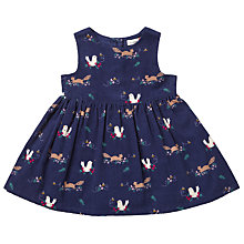 Buy John Lewis Baby Woodland Corduroy Dress, Navy Online at johnlewis.com