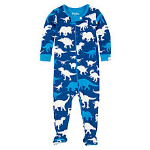 Buy Hatley Baby Dino Sleepsuit, Blue Online at johnlewis.com