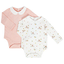 Buy John Lewis Baby Collar Bodysuits, Pack of 2, Pink/Multi Online at johnlewis.com