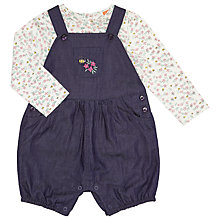 Buy John Lewis Baby Chambray Romper And T-Shirt Set, Navy/Multi Online at johnlewis.com