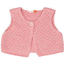 Buy John Lewis Baby Knitted Gilet, Pink Online at johnlewis.com