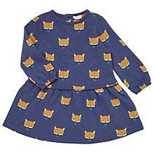 Buy John Lewis Baby Fox Print Dress, Blue Online at johnlewis.com