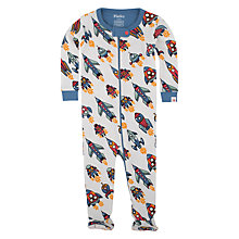Buy Hatley Baby Retro Rockers Sleepsuit, Cream Online at johnlewis.com