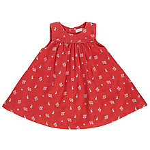 Buy John Lewis Baby Corduroy Floral Pinafore Dress, Orange Online at johnlewis.com