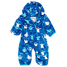 Buy Hatley Baby Skiing Yetis Pramsuit, Blue Online at johnlewis.com