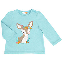 Buy John Lewis Baby Bambi T-Shirt, Blue Online at johnlewis.com