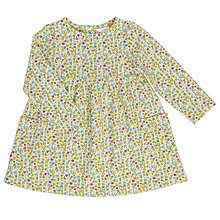 Buy John Lewis Baby Floral Skater Dress, Cream/Multi Online at johnlewis.com