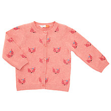 Buy John Lewis Baby Fox Theme Cardigan, Pink Online at johnlewis.com