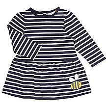 Buy John Lewis Striped Jersey Bee Dress, Navy/White Online at johnlewis.com