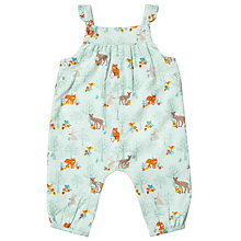 Buy John Lewis Baby Woodland Corduroy Dungaree, Aqua Online at johnlewis.com