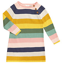 Buy John Lewis Baby Knitted Striped Dress, Multi Online at johnlewis.com