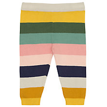 Buy John Lewis Baby Striped Knitted Leggings, Multi Online at johnlewis.com