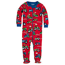 Buy Hatley Baby Farm Tractor Sleepsuit, Red Online at johnlewis.com