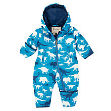 Buy Hatley Baby Dino Snowsuit, Blue Online at johnlewis.com