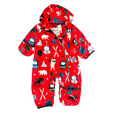 Buy Hatley Baby Alpine Scene Pramsuit, Red Online at johnlewis.com