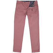 Buy Ted Baker Sorcor Slim Fit Cotton Chinos, Dusky Pink Online at johnlewis.com