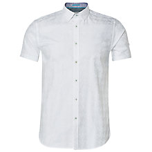 Buy Ted Baker Runrun Houndstooth Short Sleeve Shirt Online at johnlewis.com